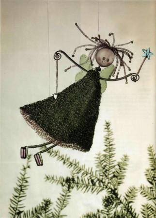 Плетение из проволоки. Забавная фея.