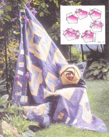 """Подушка """"роза"""". Легко, быстро и красиво."""