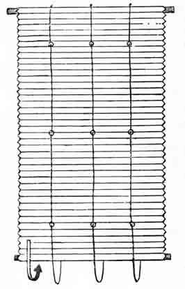 Изделия из плетеных соломенных лент. Шторы на окна.
