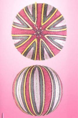 10 узоров для вышивки шариков темари. Узор 3.