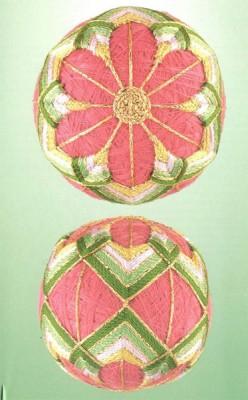 10 узоров для вышивки шариков темари. Узор 4.