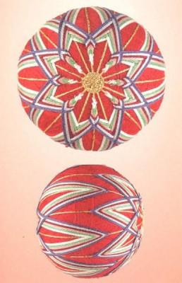 10 узоров для вышивки шариков темари. Узор 5.