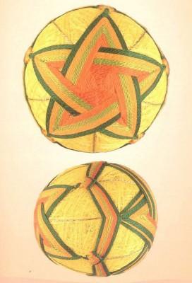 10 узоров для вышивки шариков темари. Узор 6.