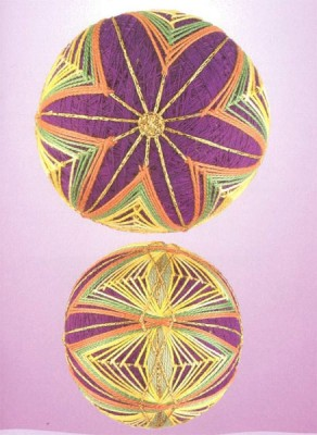10 узоров для вышивки шариков темари. Узор 8.