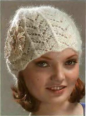 Модное вязание. Как связать ажурную шапочку.