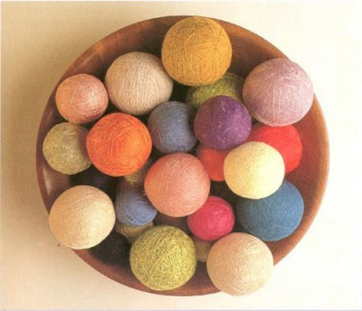 Как сделать темари. Шаг 1. Изготовление шарика - основы.