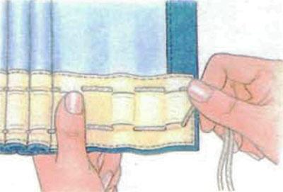 Как сшить штору на петлях своими руками