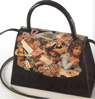 Декупаж - это просто, стильно и красиво. Декорирование сумки.