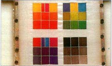 Уроки росписи по шелку. Упражнение по нанесению контуров и сочетанию цветов.