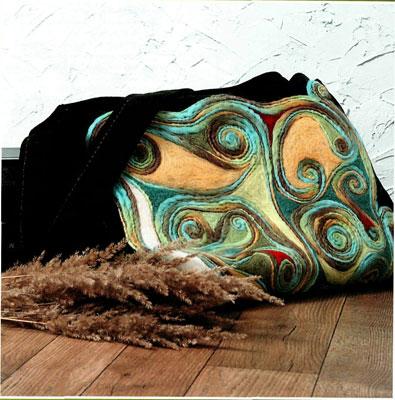 Валяние из шерсти. Как сделать дизайнерскую сумку.