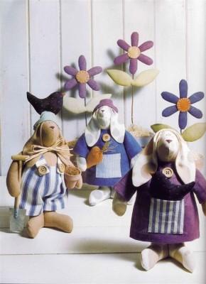 Игрушки Тильды.Выкройки для пошива зайцев.
