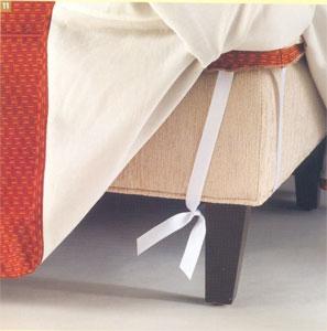 Как сшить красивые и удобные чехлы на мебель. Чехол на пуфик.