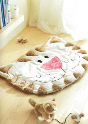 Как сделать милый коврик в подарок или для себя.