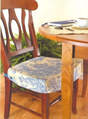 Как сшить красивые и удобные чехлы на мебель. Двусторонний чехол на сиденье стула.