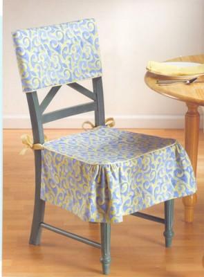 Как сшить красивые и удобные чехлы на мебель. Чехлы для стульев для кухни и столовой.