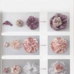 Украшение из лент. Фотоинструкции по изготовлению цветов.