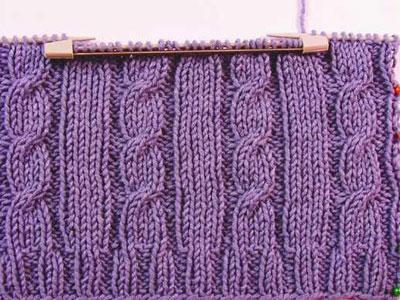 Учимся вязать на спицах. Провязывание кармана.