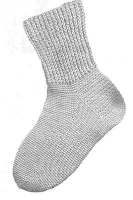 Всё, что нужно знать о вязании носков. Пошаговая инструкция для вязания носка крючком. Классическая модель.