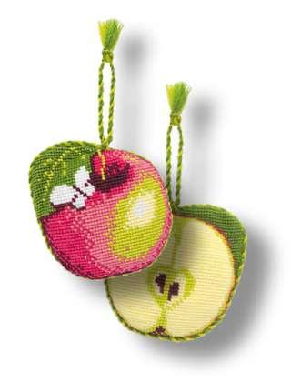 Схема вышивания крестом - Игольница яблоко.