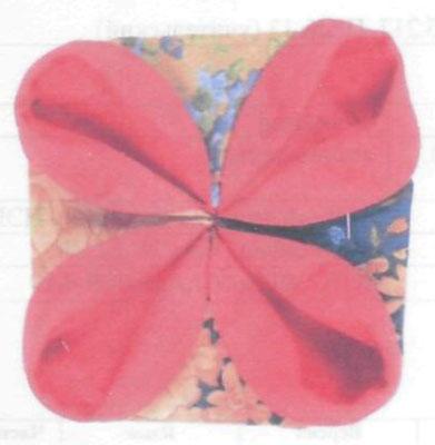 Оригами из ткани.