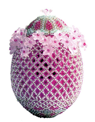 Такие яйца из бисера не останутся незамеченными.  Ну.