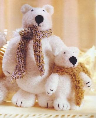Схема вязания белых медведей.