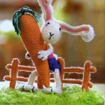 Как связать крючком зайцев. Схемы вязания крючком.