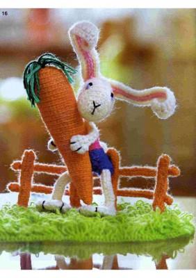 Как связать крючком зайцев или кроликов.  Схемы вязания крючком.