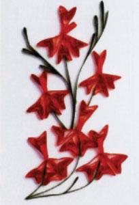 Квиллинг. Цветы из бумажных лент. Как сделать бугенвиллею (Bougainvillea spp.) и цветки лешенолтии волосатой (Leschenaultia hirsuta).