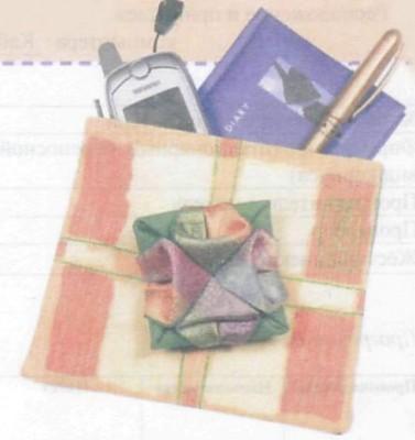 Оригами из ткани.  Как пришивать цветы.