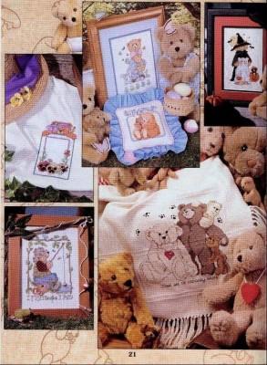 Мишки Тедди по-новому. Схемы для вышивки мишек. Часть 1.