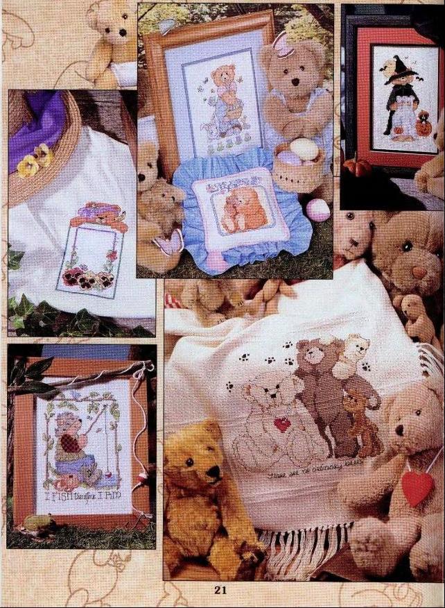 Яркие и нежные вышивки мишек Тедди с самыми разнообразными мотивами - вы можете подобрать схему для вышивания мишки...