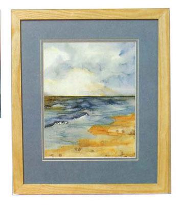 Роспись шелка. Рисуем картину с морским пейзажем.