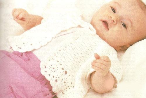 Для новорожденного с узором ракушки