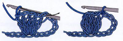 """Уроки вязания крючком. Основные виды петель и приемы вязания. Столбик с 2мя и 3мя накидами, """"рачий шаг"""", """"кукурузное зерно"""", """"рельефный столбик""""."""