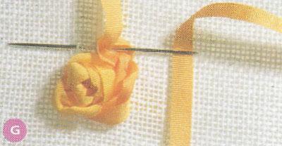 Вышиваем лентами. Способы вышивки роз.