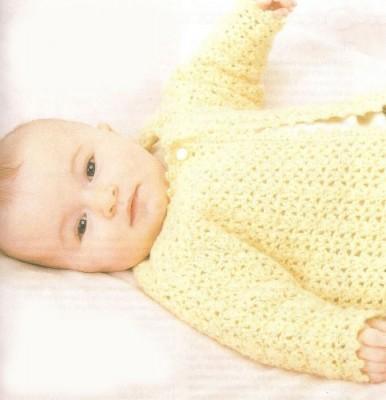 Схемы вязания для малышей. Жакетик для вашей крошки.