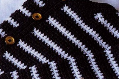 Схемы вязания для малышей. Как связать жакет в полоску.