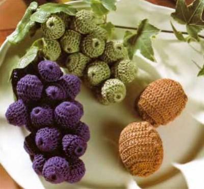 Рубрика. вязание крючком. фрукты.