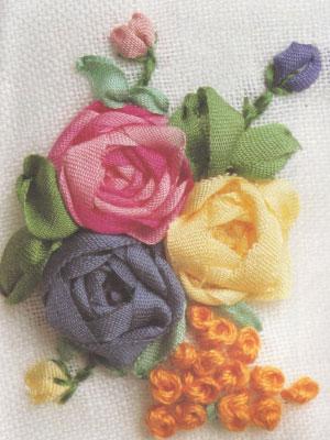 Способы вышивки роз.