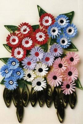 Квиллинг. Цветы из бумажных лент. Как сделать цинерарию (Senecio cruentus)