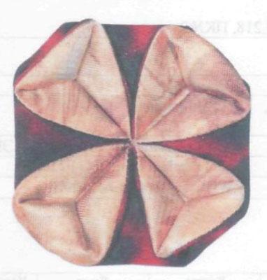 Оригами из ткани. Делаем цветок. Клематис.