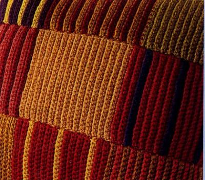 Как связать одеяло и наволочку в лоскутной технике.