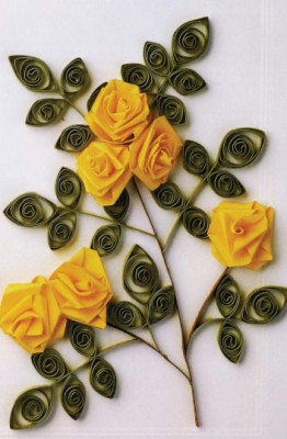 Квиллинг. Цветы из бумажных лент. Как сделать розу.