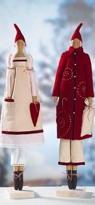 Игрушки Тильды кНовому году: Санта-Клаус, снегурочка, ангел, снеговик и другие.