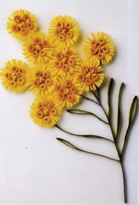 Квиллинг. Цветы из бумажных лент. Как сделать мoррисон (Verticordia nitens) и алый хвощ (Callistemon phoeniceus).