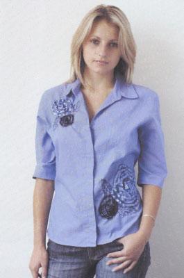 Как придать неповторимый шарм любимой одежде. Вышивка на рубашке.