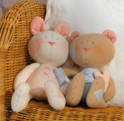 Тильды - заяц и мишка. Выкройки.