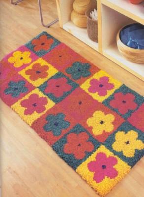"""Делаем самостоятельно коврики из лоскутов. Как сделать коврик """"Цветы в стиле ретро""""."""