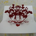 Как сделать pop-up валентинку, открытку с объёмныи изображением внутри.